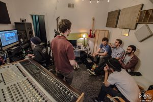 Listening Room: Desmond Jones evaluting tracks in the control room. (Photo/Nathan Purchase)