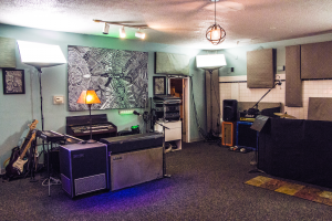 Live Room: The main recording area at Level Up.