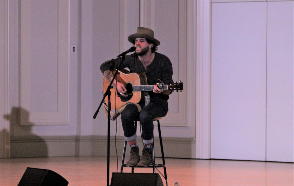 Acoustic Cafe Series Opener: Langhorne Slim played St. Cecilia Music Center on Thursday. (Photo/Anna Sink)