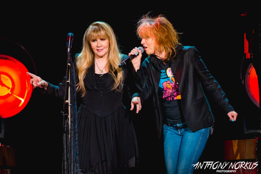 Golden Pairing: Stevie Nicks and Chrissie Hynde performing a duet at Van Andel Arena on Wednesday. (Photo/Anthony Norkus)