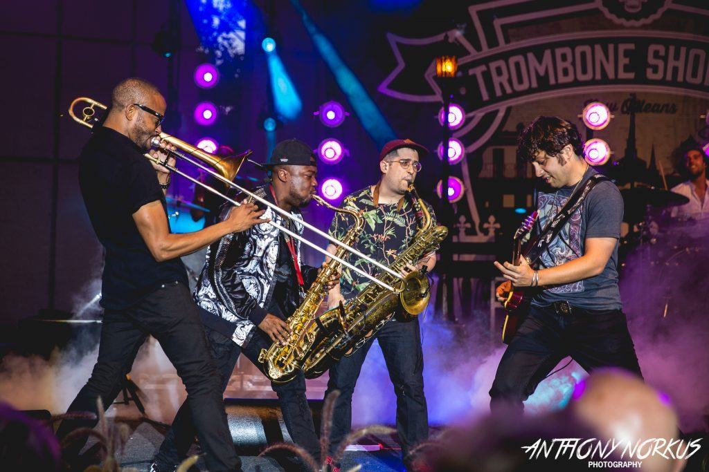 Trombone Shorty & friends uncork blitz of brass, dancing