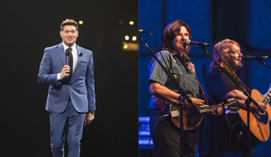 Iconic Voices: Michael Bublé charms arena; Indigo Girls 'Howl at the (Gardens) Moon'